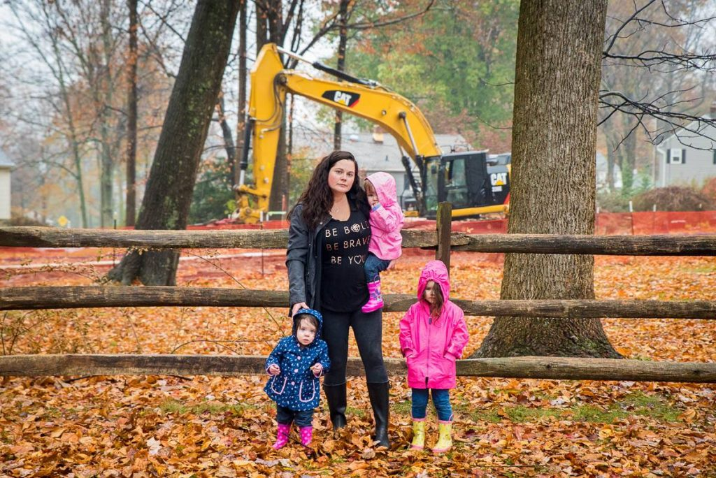 mom with three kids in a park Philadelphia Chris Baker Evans
