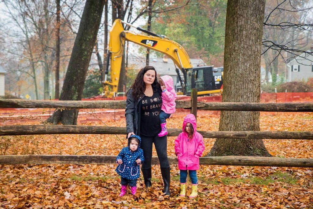 mom with three kids in a park Philadelphia Chris Baker Evans
