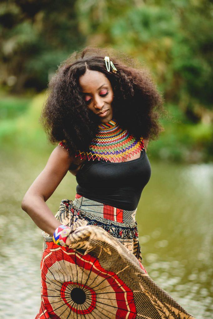 African bride dancing