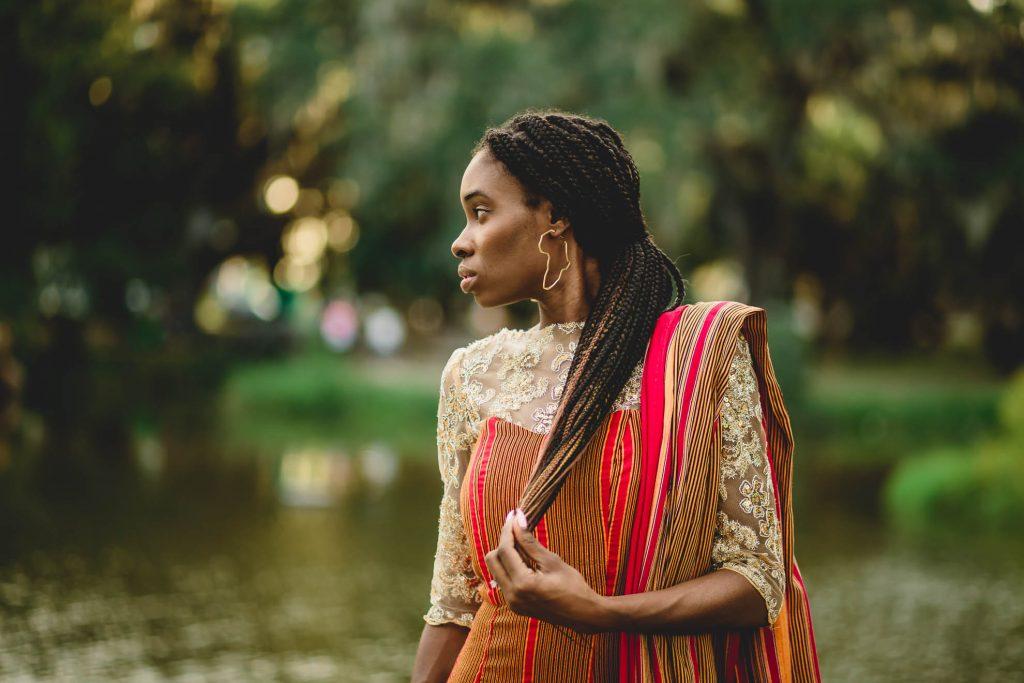 African bride braids